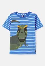 Joules Chomp Shirt Blue Dino