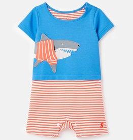 Joules Pebble Romper Blue Shark