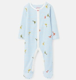Joules Ziggy Footie Blue Frog