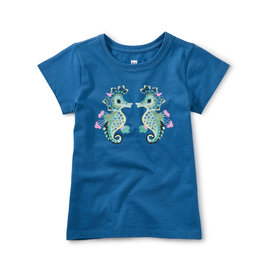 Tea Collection Seahorse Play Graphic Tee Imperial