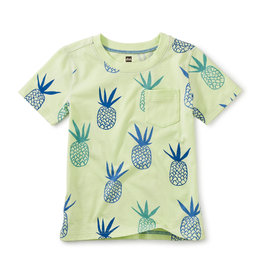 Tea Collection Printed Pocket Tee Pineapples