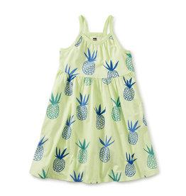 Tea Collection Spaghetti Strap Trapeze Dress Pineapples