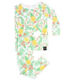 Sweet Bamboo LS PJ Set Pineapple Floral