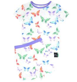Sweet Bamboo Summer PJ Set Rainbow Butterflies