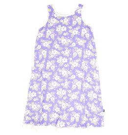 Sweet Bamboo Boho Dress Tank Purple Hibiscus
