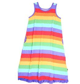 Sweet Bamboo Boho Dress Tank Rainbow Stripe