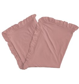 Kickee Pants Ruffle Stroller Blanket Antique Pink