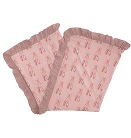 Kickee Pants Ruffle Stroller Blanket Baby Rose Ballet