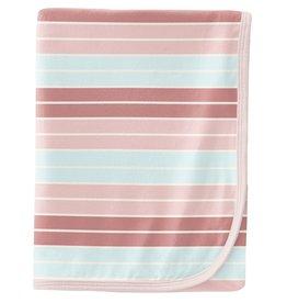 Kickee Pants Swaddling Blanket Active Stripe