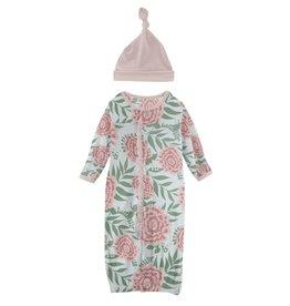 Kickee Pants Ruff Gown Conv & Hat Set Fresh Air Florist