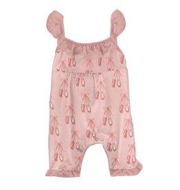 Kickee Pants Wing Romper Baby Rose Ballet