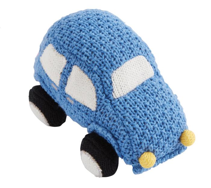 Mud Pie Car Knit Rattle