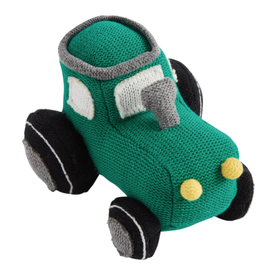 Mud Pie Tractor Knit Rattle