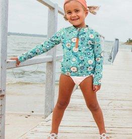 Ruffle Butts/Rugged Butts Island Dream LS Zipper Rash Guard Bikini