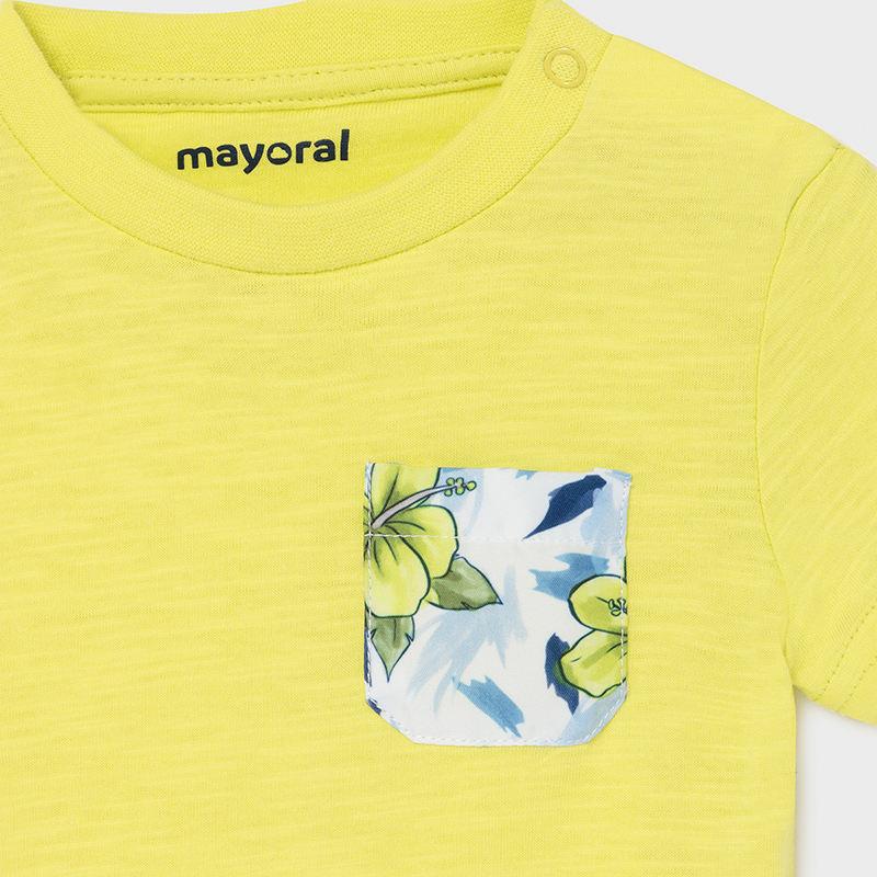 Mayoral Bathsuit & T-Shirt Set Lime