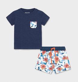 Mayoral Bathsuit & T-Shirt Set Blue