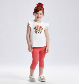 Mayoral Pant Set w/ Sequin Panther Coral