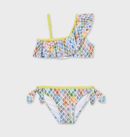 Mayoral Ruffled Bikini Printed
