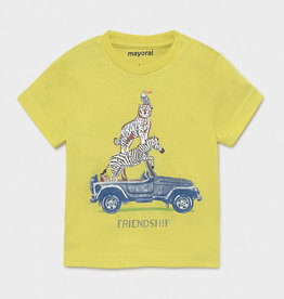 Mayoral SS T-Shirt Friendship Lime
