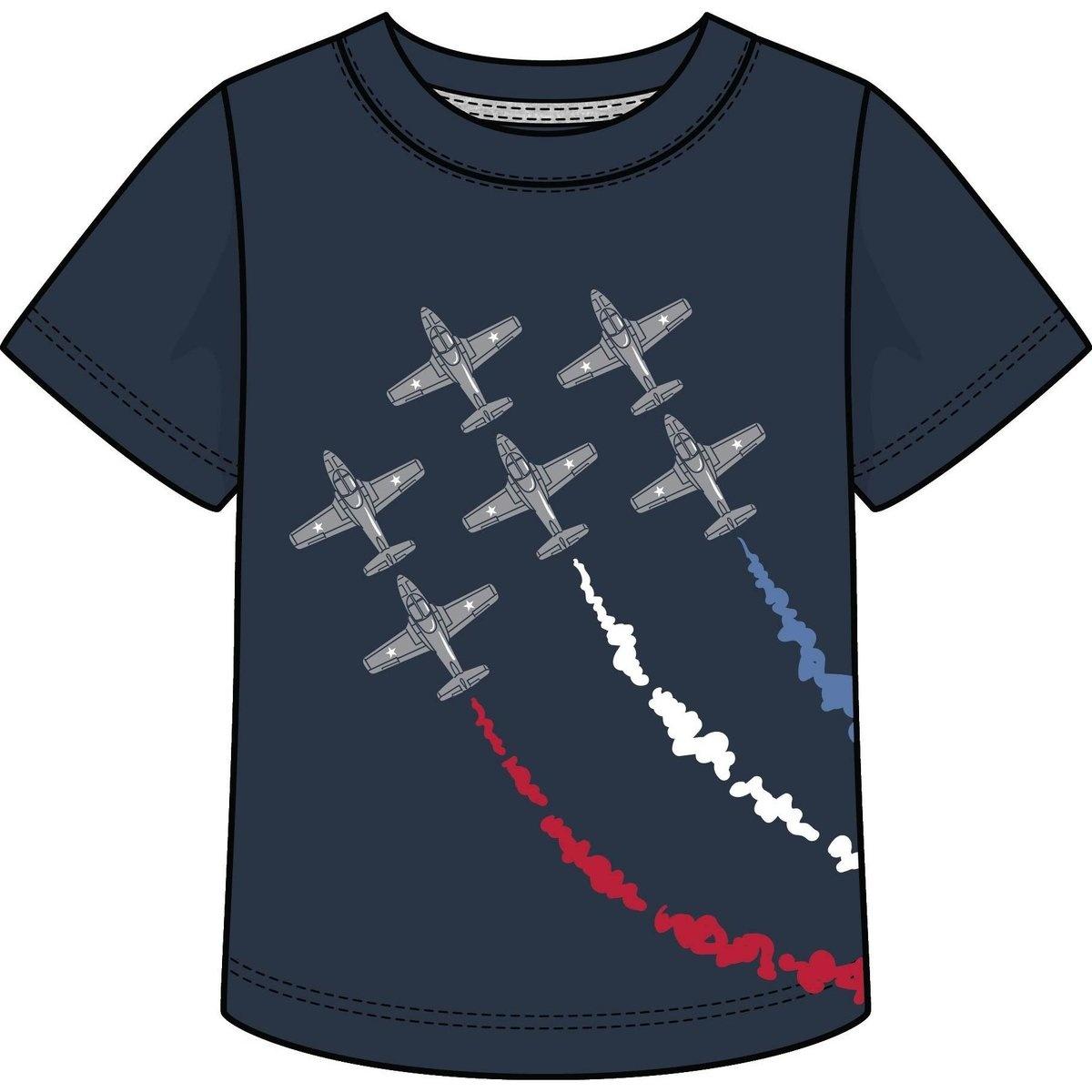 Global Tex Kids Boys Navy Jersey Airshow Tee