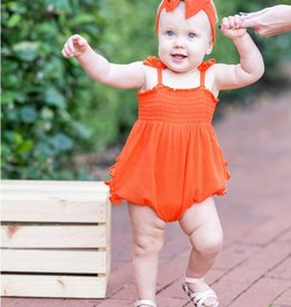 Ruffle Butts/Rugged Butts Sunset Ribbed Smocked Bubble Romper