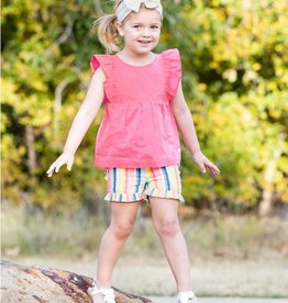 Ruffle Butts/Rugged Butts Playful Stripe Ruffle Shorts