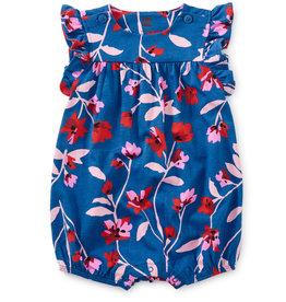 Tea Collection Flutter Button Baby Romper Floral Breeze