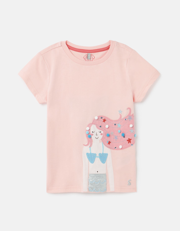 Joules Astra Shirt Pink Mermaid