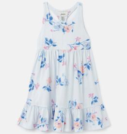 Joules Juno Dress White Floral Stripe