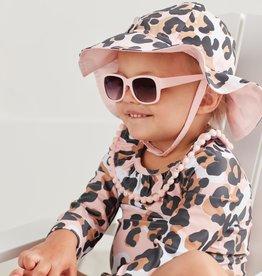 Mud Pie Leopard Sun Hat & Glasses (Infant)