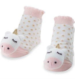 Mud Pie Unicorn Rattle Toes Socks (0-12M)