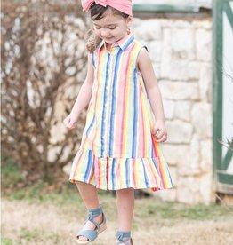Ruffle Butts/Rugged Butts Playful Stripe Drop-Waist Dress