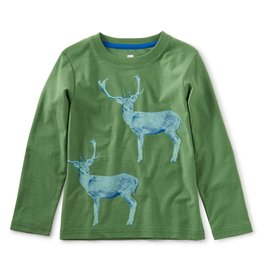 Tea Collection Scandi Stag Graphic Tee English Ivy