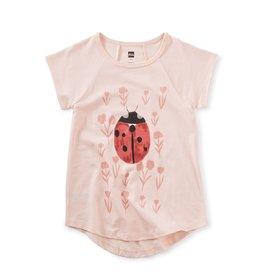 Tea Collection Ladybug Tunic Top Pink Salt