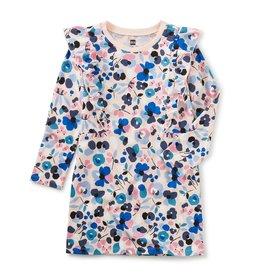Tea Collection Ruffle Dress Jamtland Floral in Pink Salt