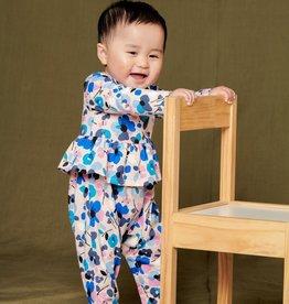 Tea Collection Peplum Baby Romper Jamtland Floral Pink