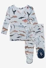 Posh Peanut Maverick Tie-Front Kimono Set, 0/3M