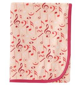 Kickee Pants Swaddling Blanket Peach Blossom Music Class