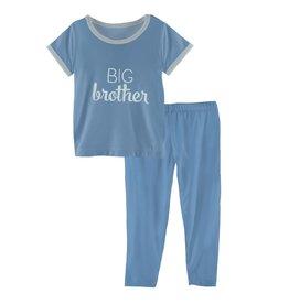Kickee Pants SS PJ Set Blue Moon Big Brother