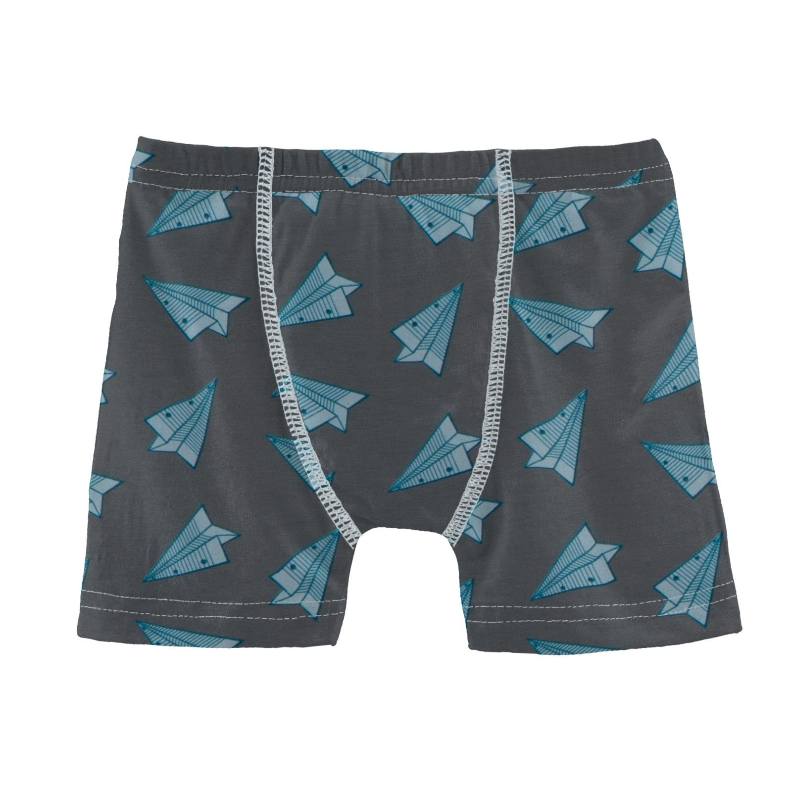 Kickee Pants Boxer Brief Lined Paper Airplanes