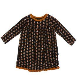 Kickee Pants Classic LS Swing Dress Midnight Candy Corn