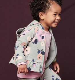 Tea Collection French Terry Baby Zip Hoodie Heather Grey
