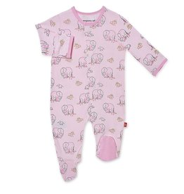 Magnificent Baby Pink Love You A Ton  Modal Magnetic Footie