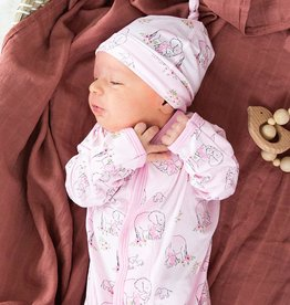 Magnificent Baby Pink Love You A Ton Modal Magnetic Gown & Hat Set