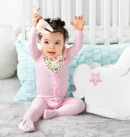 Magnificent Baby Cake My Day Pink Solid Modal Magnetic Footie
