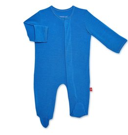 Magnificent Baby Solid Cobalt Modal Magnetic Footie