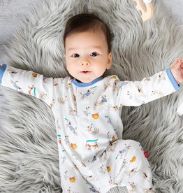 Magnificent Baby Howlarious Organic Cotton Magnetic Footie