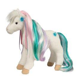 Douglas Rainbow Princess White Horse w/ Brush