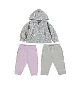 Mayoral 2 Trousers Tracksuit Set Silver