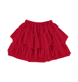 Mayoral Tulle Glitter Skirt Red